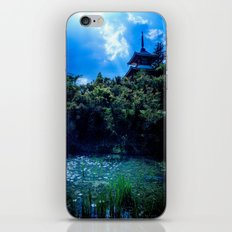 Tranquil Lake House Landscape iPhone & iPod Skin