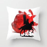 Japan Samurai Throw Pillow