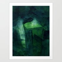 Crystal Evaporating In A… Art Print
