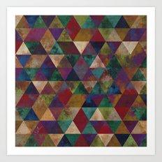 Geometric Jupiter square Art Print