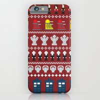iPhone & iPod Case featuring Doctor Who - Time of The Doctor - 8 bit Christmas Special by Adam James