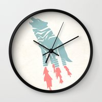 Robot Wolf-Tiger from Outer Space Wall Clock
