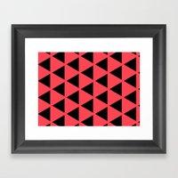 Sleyer Black On Pink Pat… Framed Art Print