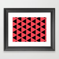 Sleyer Black On Pink Pat… Framed Art Print