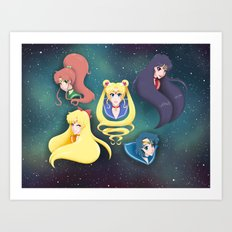 Sailor Moon and the Inner Senshi Art Print