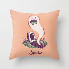 Spooky Ghostie Throw Pillow