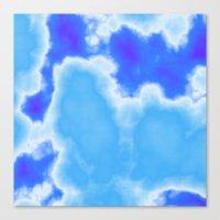 Powder Blue And Indigo S… Canvas Print
