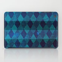 diamond stripes (blue) iPad Case