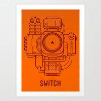 Switch Art Print