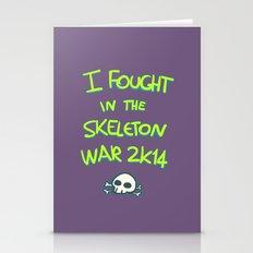 skeleton war Stationery Cards