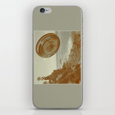 Lady & The Flying Saucer iPhone & iPod Skin