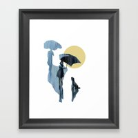 when it pours it rains Framed Art Print