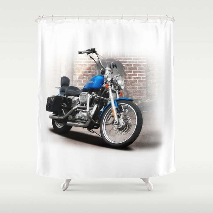 ... Harley Davidson Shower Curtain Rings By Harley Davidson Shower Curtain  By Cjsphotos Society6 ...