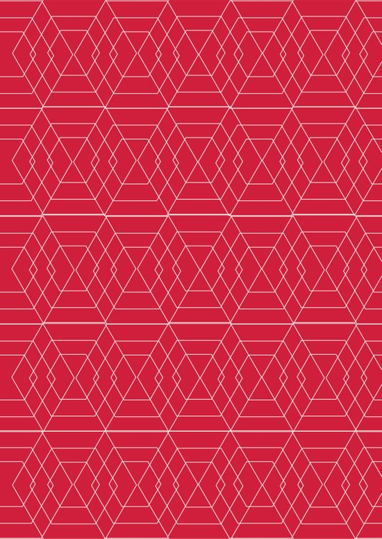 giving hearts giving hope: red hex Art Print