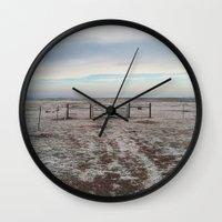 Snowy Gate Wall Clock