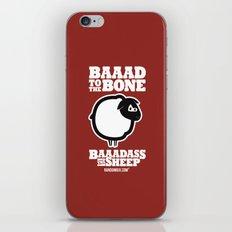 Baaadass the Sheep: Baaad to the Bone iPhone & iPod Skin