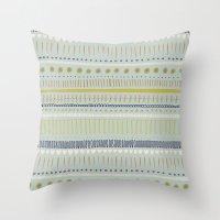 Teal & Green Pattern Throw Pillow