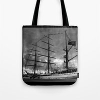 Portuguese tall ship Tote Bag
