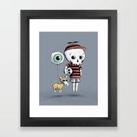 Skull Kid Framed Art Print