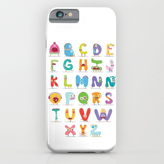 Monster alphabet iPhone & iPod Case