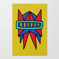 Robot Head #0002 Canvas Print