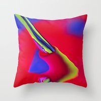 Broken Artery Throw Pillow