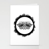 Half Creature Stationery Cards