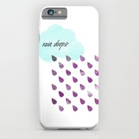 iPhone & iPod Case featuring Rain drops by Stickycake Studio