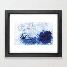 Blue tides Framed Art Print