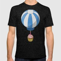 Flying Cupcake Mens Fitted Tee Tri-Black SMALL