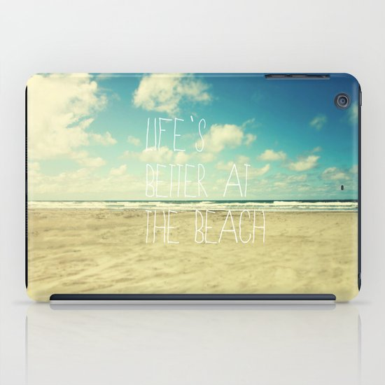 life's better at the beach iPad Case