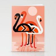 Posse - Flamingo Throwba… Stationery Cards