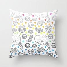 Hypno Animals Throw Pillow