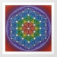 Rainbow Happy Flower Of … Art Print