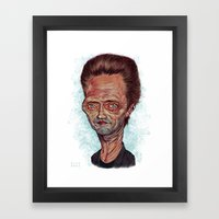 Christopher Walken Framed Art Print