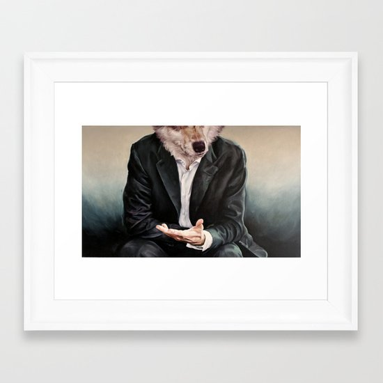 the politician Framed Art Print