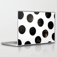 Laptop & iPad Skin featuring Black Polka Dots by Georgiana Paraschiv