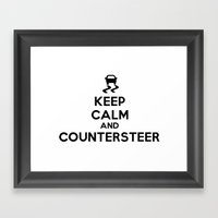 Keep Calm and Countersteer Framed Art Print