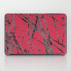 red black scratchy grunge iPad Case