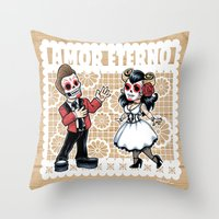 Amor Eterno Throw Pillow