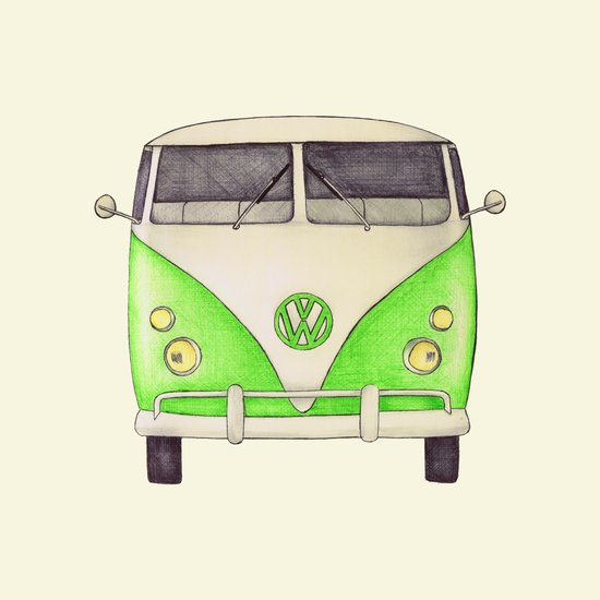 VW Type 2 Canvas Print