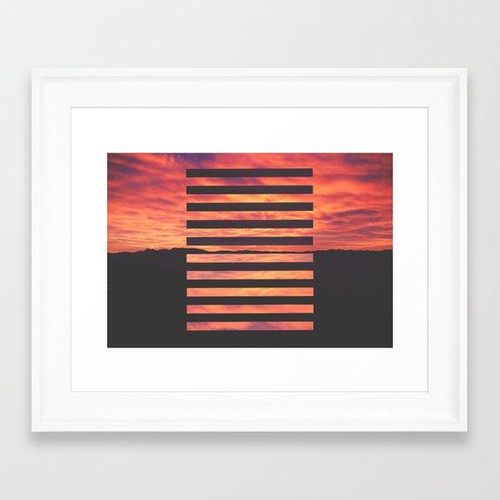 Black Strips Framed Art Print