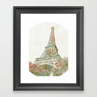 Flower Tower Framed Art Print
