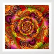 3 D Abstract 3 Art Print
