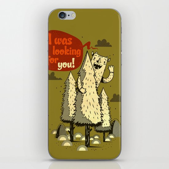 The Woods Monster. iPhone & iPod Skin