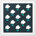 Rain Cloud Pattern Art Print