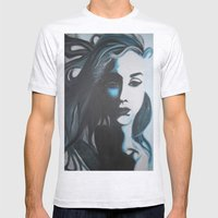Women In Blue Mens Fitted Tee Ash Grey SMALL