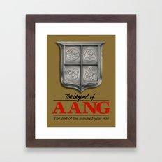 The legend of Aang Framed Art Print