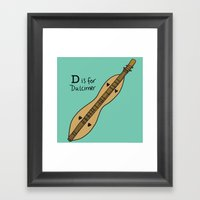 D Is For Dulcimer Framed Art Print