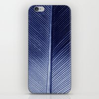 Blue Feather iPhone & iPod Skin